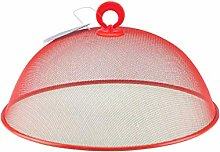 Round Metal Mesh Food Cover Dome 30cm Coloured