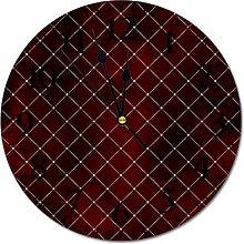 Round Modern Stylish PVC Wall Clock Silent