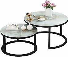 Round Nested Tables, Living Room Piece, Glass,