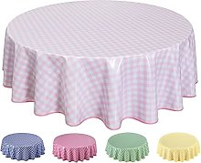 Round Oilcloth PVC Wipe Clean Tablecloth Table