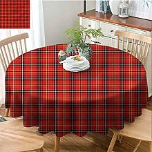 Round Outdoor Tablecloth-Geometric-Wrinkle Free