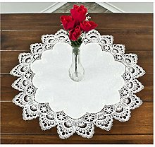 Round Placemat Doily or Table Topper in White