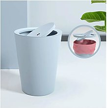 Round Plastic Trash Can Waste Basket - Passion Red