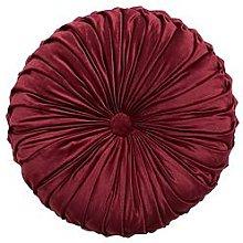 Round Pleated Velvet Cushion