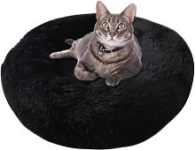 Round Plush Cat Basket for Cats and Small Dogs