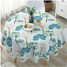 Round Polyester Tablecloth Printed Floral Modern