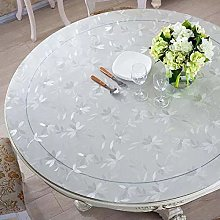 Round Pvc Transparent Table Cover Tablecloth