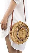 Round Rattan Bag Hollow Out Woven Handmade