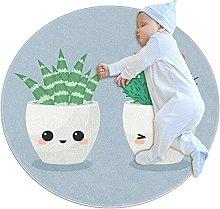 Round Rug Carpets, Modern Circle Rug for Kids