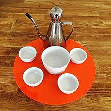 Round Serving Mat/Table Protector - Orange - Gloss
