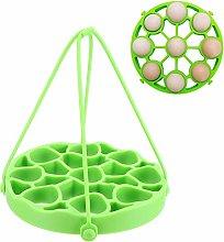 Round Shape Silicone Egg Rack, Egg Steamer Stand,