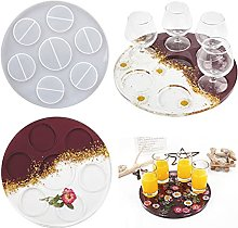 Round Shot Glass Cup Serving Tray Molds of 4 Holes
