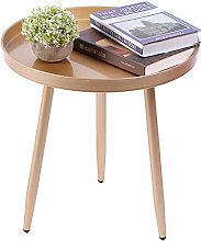 Round Side Table Gold Bedside Table, Modern Iron