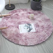 Round Silk Yoga Carpet for Living Room Bedroom And
