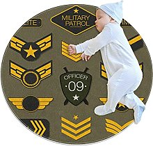 Round Soft Area Rugs 3Ft for Kids Baby Girls
