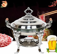 Round stainless steel warming container, chafing