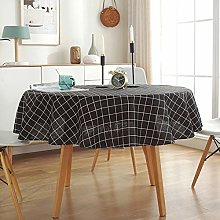 Round Table Cloths,48Inch 60Inch Cotton Linen