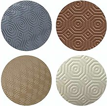 Round Table Protector (Brown, 110 cm Round)