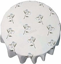 Round Tablecloth 36 Inch - Watercolor Flowers