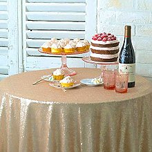 Round Tablecloth 48-Inch Small Round Sequin