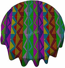 Round Tablecloth 50 Inch - ZigZag Cotton