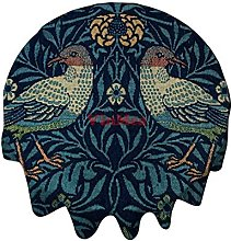 Round Tablecloth 54 Inch Birds By William Morris