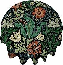 Round Tablecloth 54 Inch - William Morris Compton