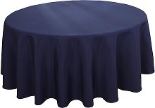 Round Tablecloth 60 Inch Waterproof Navy Blue