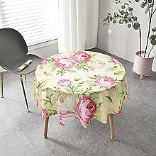 Round Tablecloth for Outdoor Garden Tables,