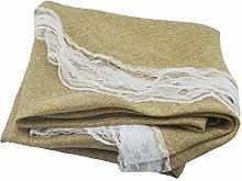 Round Tablecloth Imitation Cotton Linen Retro