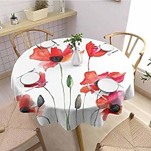 Round tablecloth kitchen Watercolor Flower Holiday
