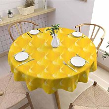 Round tablecloth modern Yellow Easy care Abtract