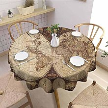 Round tablecloth multicolor Wanderlust Decor Soft