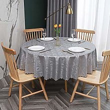 Round Tablecloth PVC Oilcloth Waterproof
