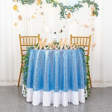 RoundTablecloth SequinTablecloth Baby Blue 72