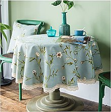 Round Tablecloth, Simple Style 50% Linen Fabric