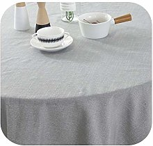Round Tablecloth Wedding Party Table Cloth Cotton