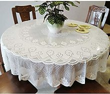 Round Tablecloth White Lace For Round Table