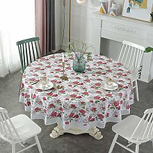 Round Tablecloth Wipe Clean, Waterproof Wipeable