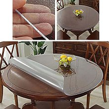 Round Transparent PVC Frosted Tablecloth, 3mm