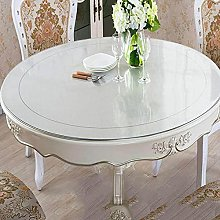 Round Transparent Tablecloth, 2mmPVC Frosted Table