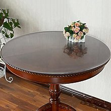 Round Transparent Tablecloth, PVC Round Table