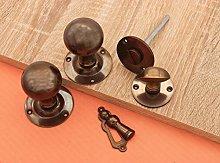 Round Victorian Ball Mortice Door knob with