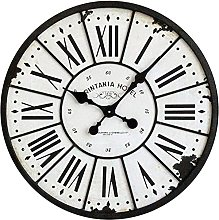 Round Wall Clock European Style Loft Retro