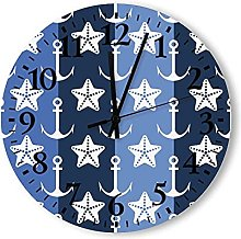 Round Wall Clock,Farmhouse Large Wall Clock with