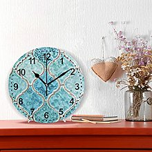 Round Wall Clock Silent Non Ticking Home