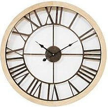 Round Wall Clock With Cut-Out Dial