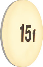 Round wall lamp incl. LED with number sticker