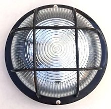 Round Wall Light Black Mains Powered - BRAND NEW &