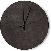 Round Wood Wall Clock Home Decor Battery Operated